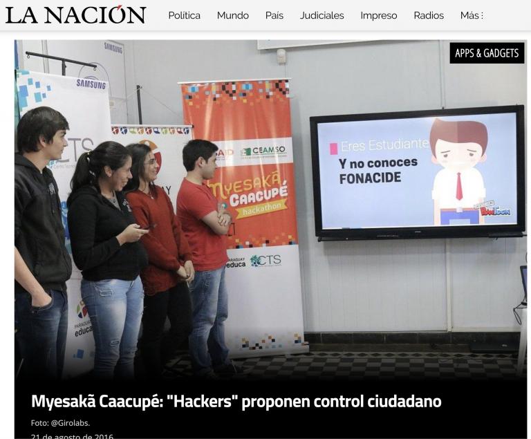 Myesakã Caacupé: «Hackers» proponen control ciudadano   La Nación