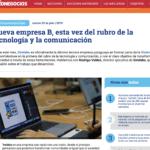 Nueva empresa B, esta vez del rubro de la tecnología y la comunicación | InfoNegocios